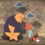 Ilustracja pokazuje smutną lisicę i misia, który pochyla się nad nią z empatią.