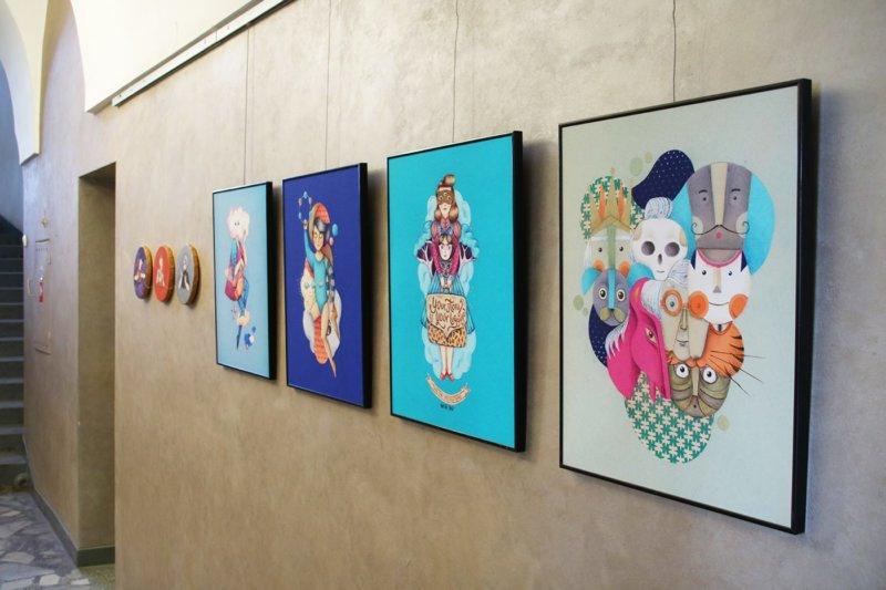 Na ścianie - moje ilustracje